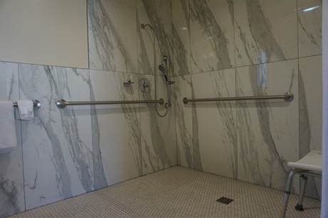 King Size Bed - Accessible Roll In Shower